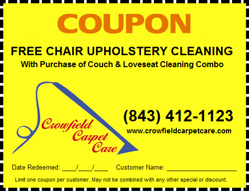 Free Chair Upholstery Cleaning with Purchase